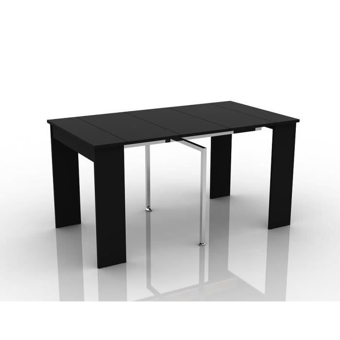table console extensible virago 3 allonges noir 1m45 achat vente console extensible table. Black Bedroom Furniture Sets. Home Design Ideas