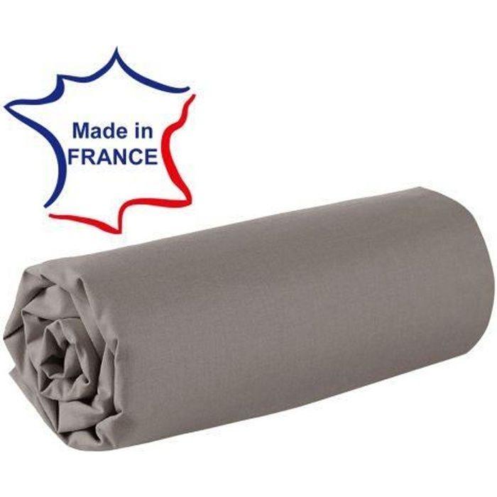 Drap housse 120x190 cm 100% coton 57/fils