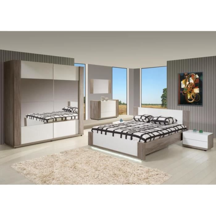 Chambre adulte compl te helena achat vente chambre for Chambre adult complet