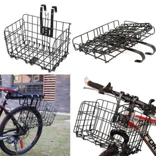 PORTE-BAGAGES VÉLO Support à vélo arrière pliant avant vélo panier VT