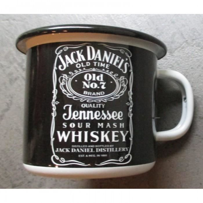 mug jack daniels en email tasse caf emaill e whisky usa achat vente bol mug mazagran. Black Bedroom Furniture Sets. Home Design Ideas