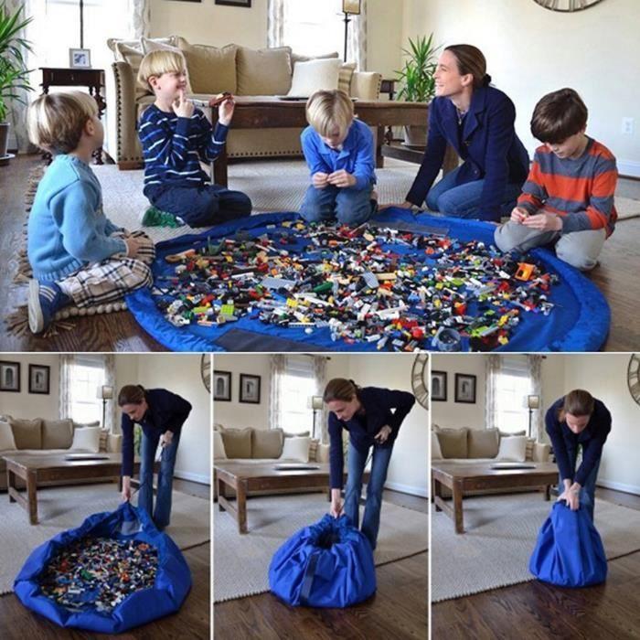 Sac de rangement jouet tapis de jeux pour enfants - Achat / Vente tapis de jeu - Cdiscount