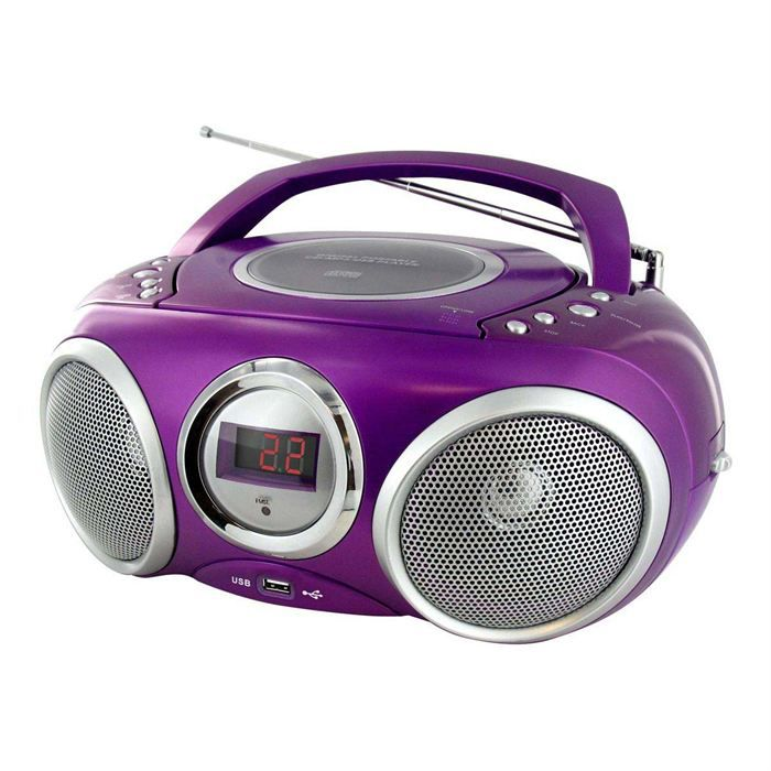 lecteur radio cd mp3 usb violet chaine hi fi avis et prix pas cher cdiscount. Black Bedroom Furniture Sets. Home Design Ideas