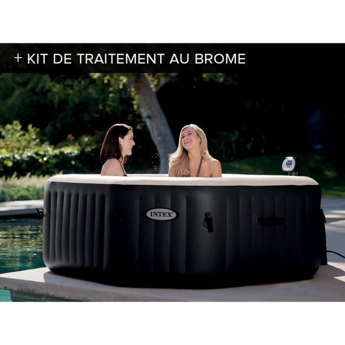 spa intex 4 places bulles et jets kit brome achat. Black Bedroom Furniture Sets. Home Design Ideas