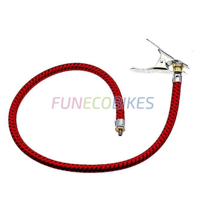 POMPE À VÉLO Raccord flexible Dunlop avec pince de maintien