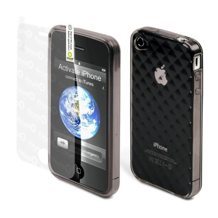 Housse iphone 4 minigel matelass e film achat coque for Housse iphone x