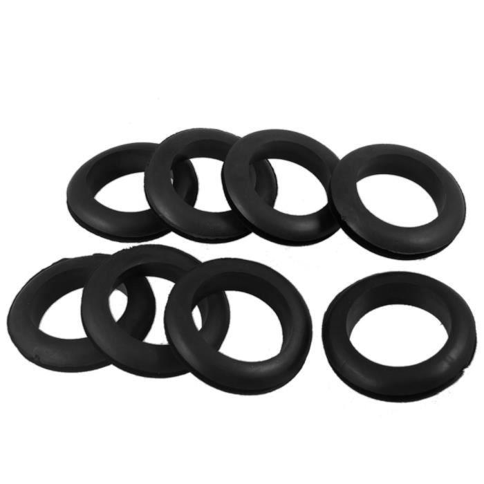 Akozon 1 paire de tubes de fourche avant de moto noirs Bottes Couverture en caoutchouc de protection contre les chocs pour moto Dirt Bike ATV Couvercle de fourche avant en caoutchouc