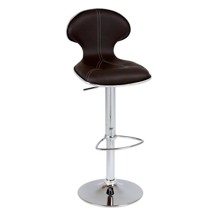 lot de tabourets de bar yanis achat vente tabouret de bar marron cdiscount. Black Bedroom Furniture Sets. Home Design Ideas