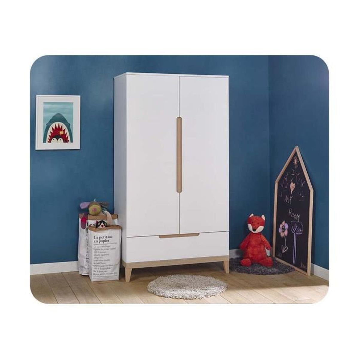 armoire enfant riga achat vente armoire de chambre. Black Bedroom Furniture Sets. Home Design Ideas