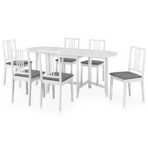 TABLE À MANGER COMPLÈTE Set table à manger et 6 chaises Salon 7PCS