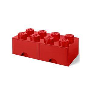 COFFRE - MALLE Lego Boîte de rangement 8 avec 2 tiroirs - Rouge42