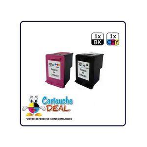 CARTOUCHE IMPRIMANTE HP 301XL  : Lot 2 cartouches compatible pour Deskj