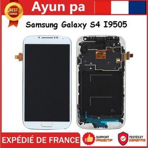 PIÈCE TÉLÉPHONE VITRE TACTILE + ECRAN LCD BLANC SUR CHASSIS POUR S