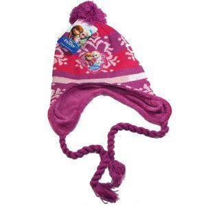 BONNET - CAGOULE Bonnet péruvien Frozen, reine des neiges, violet n