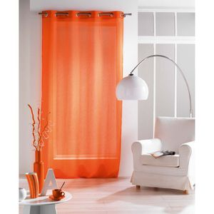 RIDEAU Voilage oeillets 140x240cm PALOMA crash orange