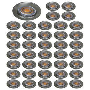 SPOTS - LIGNE DE SPOTS LOT DE 40 SPOT ENCASTRABLE FIXE LED 230V ALU BROSS