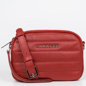 SAC À MAIN Lancaster -  Mini sac trotteur zippé Rouge Femme P