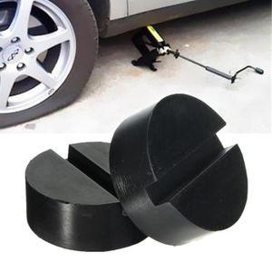 Noir Bloc de support en caoutchouc antid/érapant pour cric de voiture
