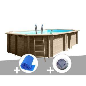 PISCINE Kit piscine bois Sunbay Bogota 5,85 x 4,10 x 1,19