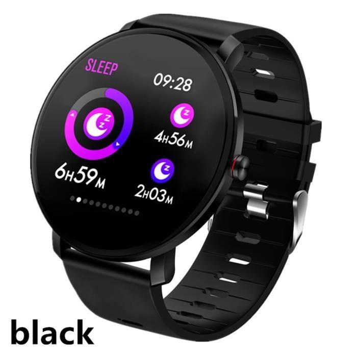 Montre connectée,Pour Samsung Galaxy S20 + S20 Ultra S10 Plus S10e Lite note9 montre intelligente IP68 Bracelet - Type Black