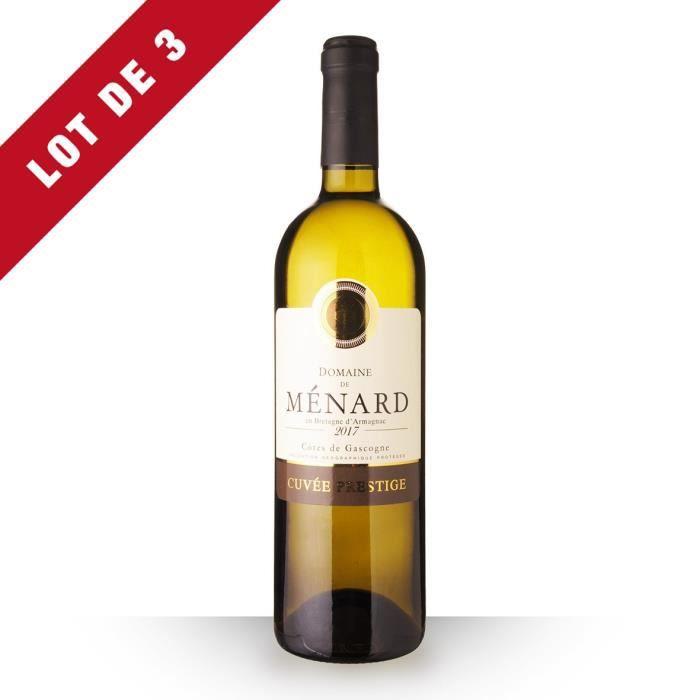 Lot de 3 - Domaine de Ménard Cuvée Prestige 2017 IGP Côtes de Gascogne - 3x75cl - Vin Blanc