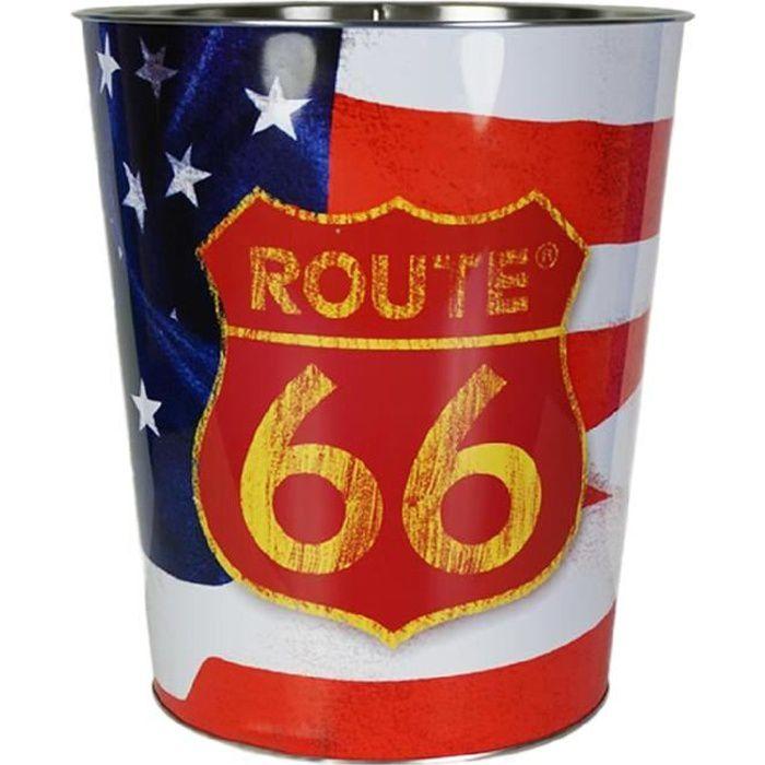 Poubelle de bureau en metal Route 66