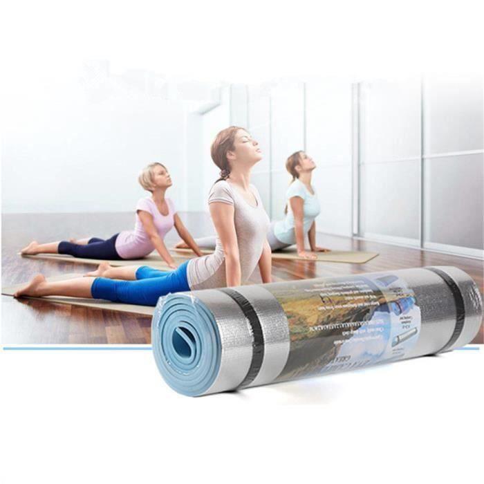Aluminium Film étanche à l'humidité Tapis de yoga entraînement Pad exercice Gym Fitness Pilates B03EEE