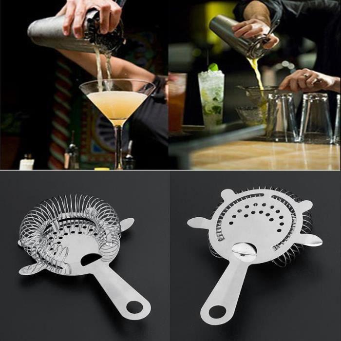 1pc barman Cocktail Shaker acier inoxydable barre fil mixte boisson crépine à glace passoire filtre Cocktail Bar accessoires outil