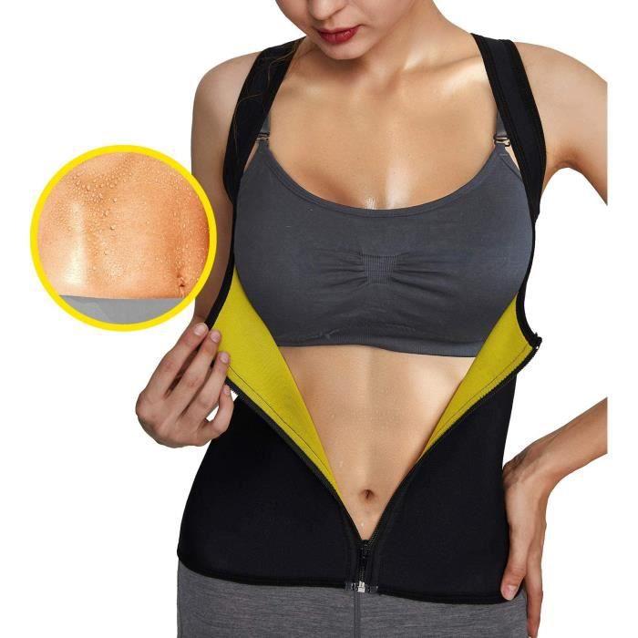 CEINTURE ABDOMINALE Roseate Sudation Femme Corset Minceur Ventre Plat Sport Gilet Fitness T Shirt Perdez du Poids Sauna Deacuteb469