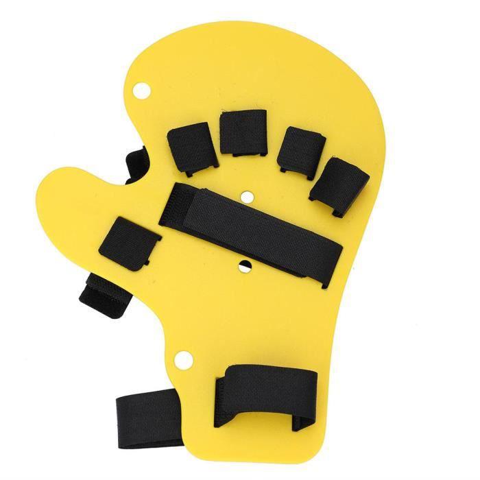 Zerodis support d'entraînement de main Orthèses de doigt Support de formation d'attelle de main de type étendu de course de