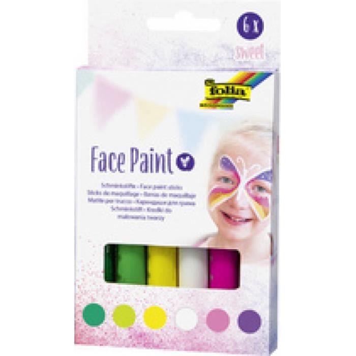 folia Crayons de maquillage Face Paint Set WILD 0,000000 Noir