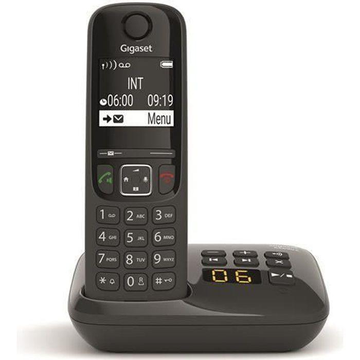 GIGASET Téléphone Fixe AS690 A Noir