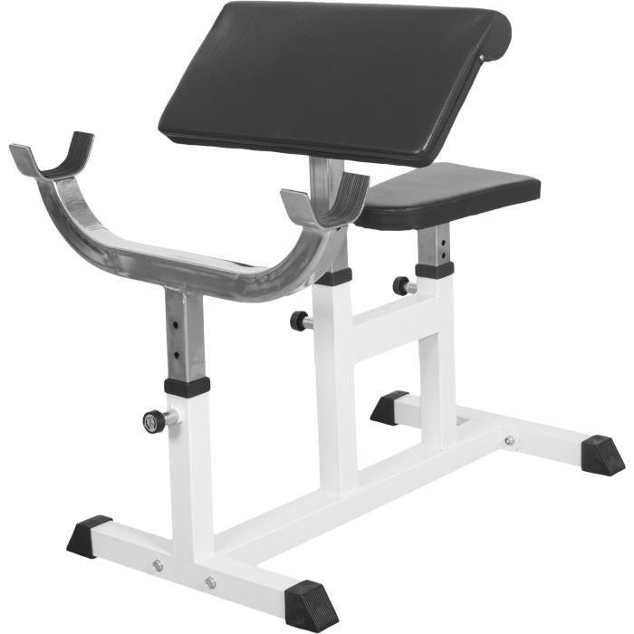 Gorilla Sports Banc de musculation curl pour entrainer les biceps GS007