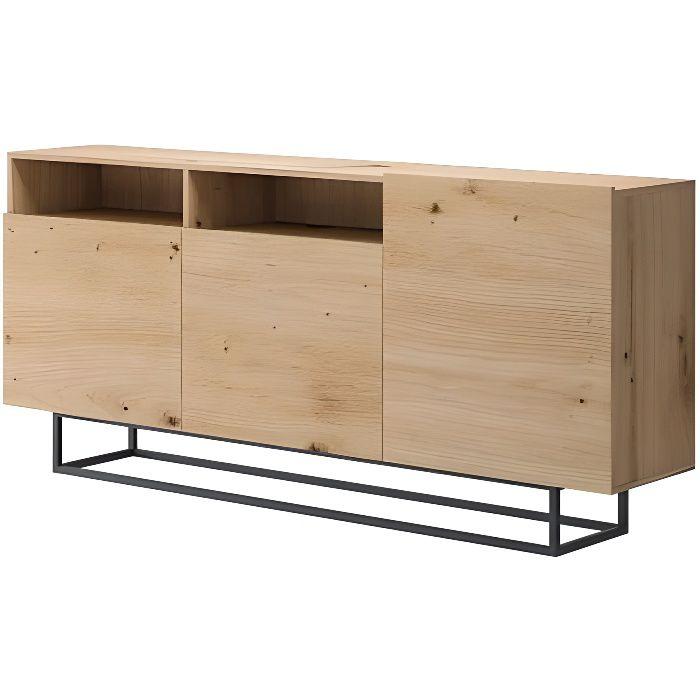 Commode industrielle ENJOY 180 cm couleur bois