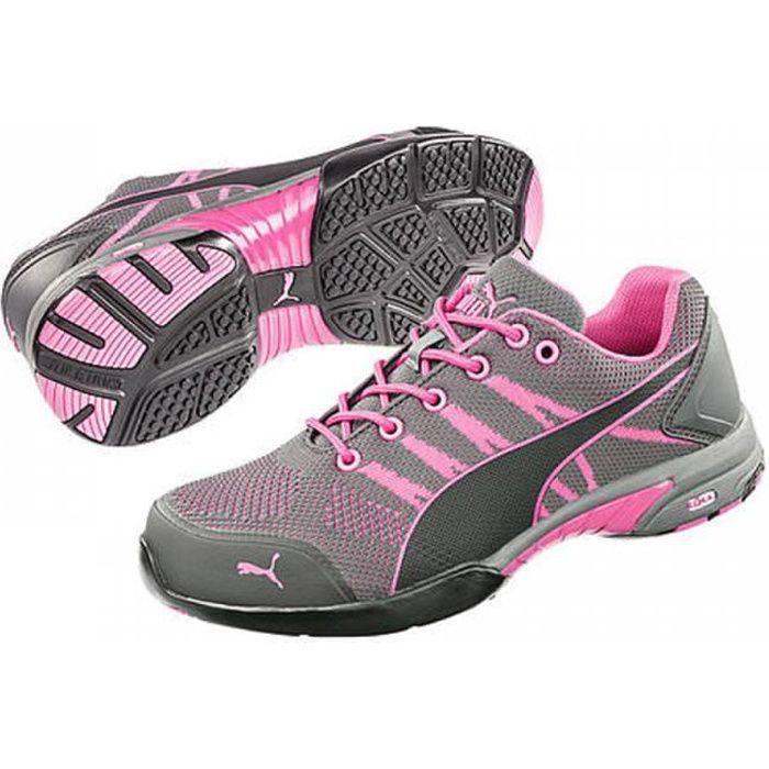 Chaussures de sécurité Puma celerity knit rose S1