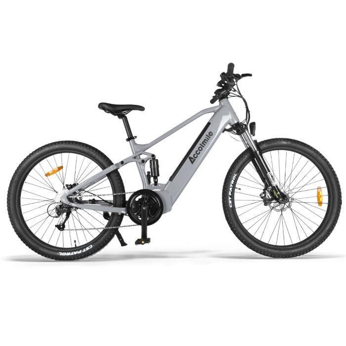 ACCOLMILE Vélo à assistance électrique GRIS 48V 750W 27,5inch avec la batterie