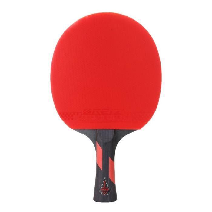 RAQUETTE DE TENNIS DE TABLE REIZ 5 étoiles Ping-Pong Paddle manche court