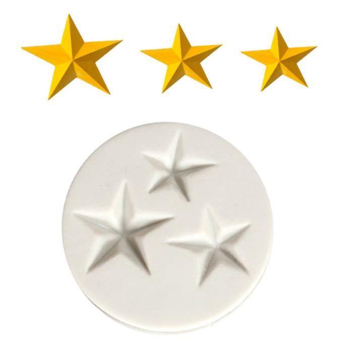 Moules en Silicone 3 étoiles forme ustensiles de cuisson outils de décoration de gâteau moule de pour Cupcake GATEAU PATISSIER