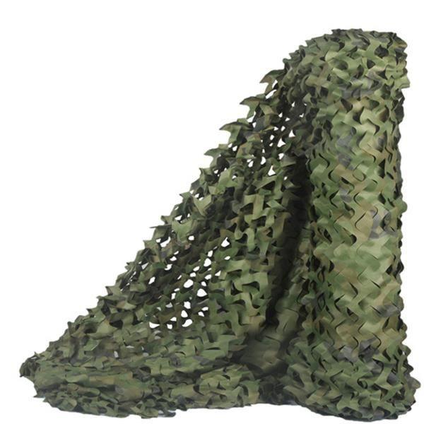 Filet de camouflage 3 * 5m, filet d'ombrage, adapté au camp militaire et à la décoration de la cour et à divers endroits