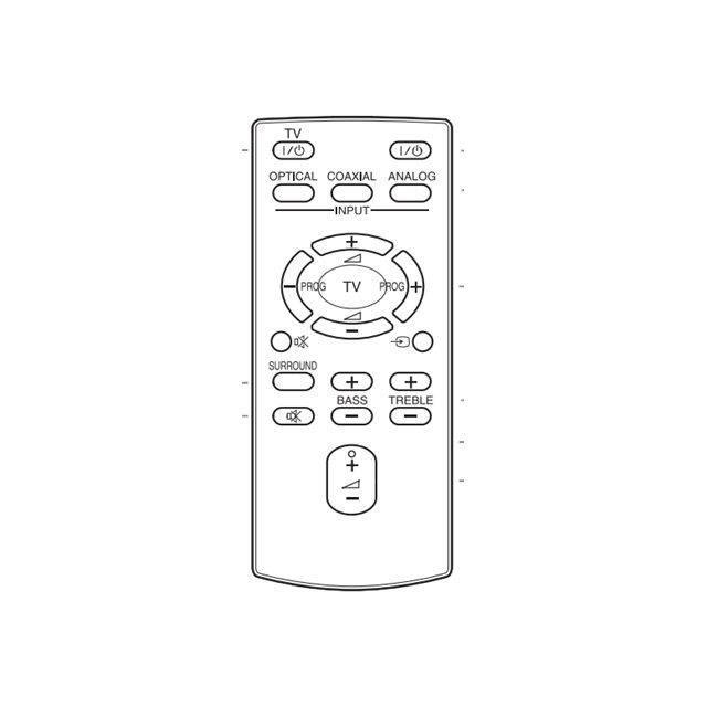 Sony RM-ANU160 Télécommande pour Sony HT-CT60, HT-CT60BT