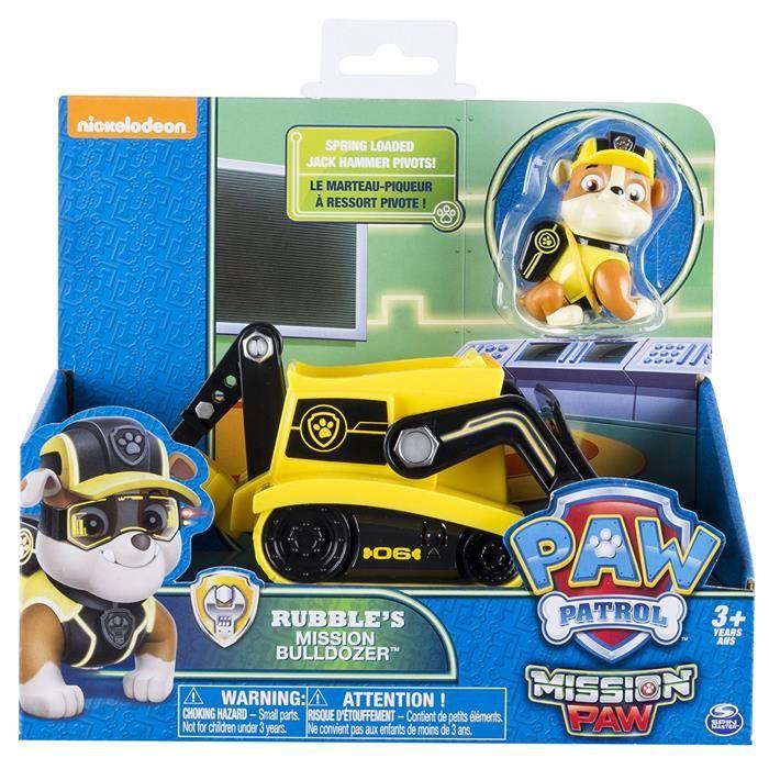 Patte Patrol Mission Patte Rubble's Mission Bulldozer Véhicule de base avec la figure