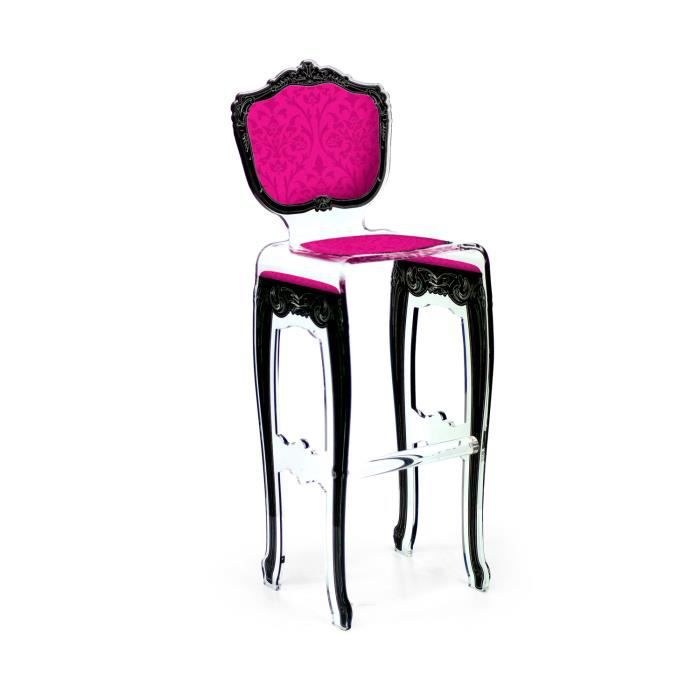 acrila tabouret de bar baroque rose achat vente tabouret de bar rose les soldes sur. Black Bedroom Furniture Sets. Home Design Ideas