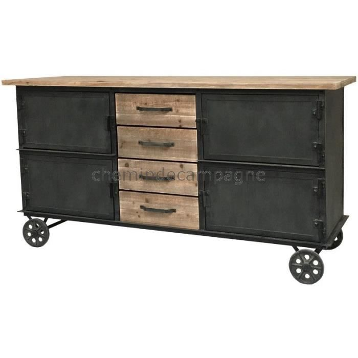 enfilade industriel achat vente enfilade industriel. Black Bedroom Furniture Sets. Home Design Ideas