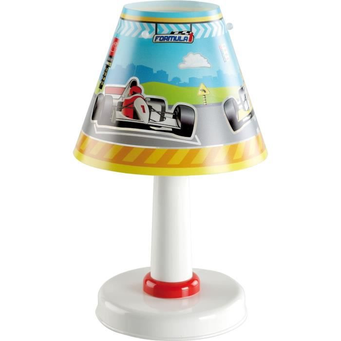 lampe de chevet f1 enfant achat vente lampe de chevet f1 plastique r sine cdiscount. Black Bedroom Furniture Sets. Home Design Ideas