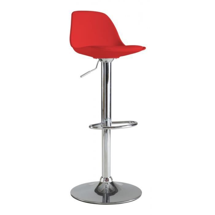 Tabouret de bar cocktail rouge achat vente tabouret cdiscount - Tabouret rouge de bar ...