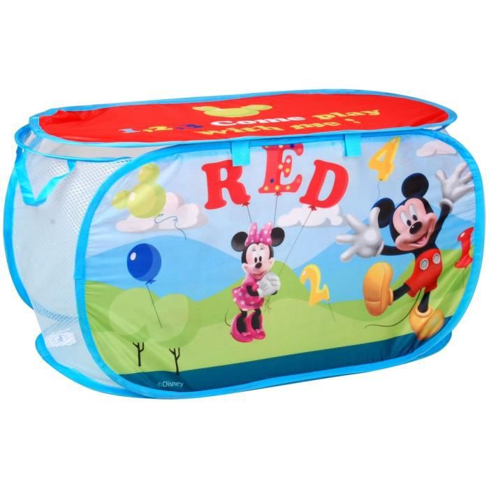 coffre jouets panier de rangement enfant mickey disney achat vente casier pour meuble. Black Bedroom Furniture Sets. Home Design Ideas