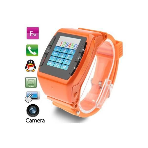 montre t l phone portable orange tactile cam ra fm montre connectee prix pas cher cdiscount. Black Bedroom Furniture Sets. Home Design Ideas