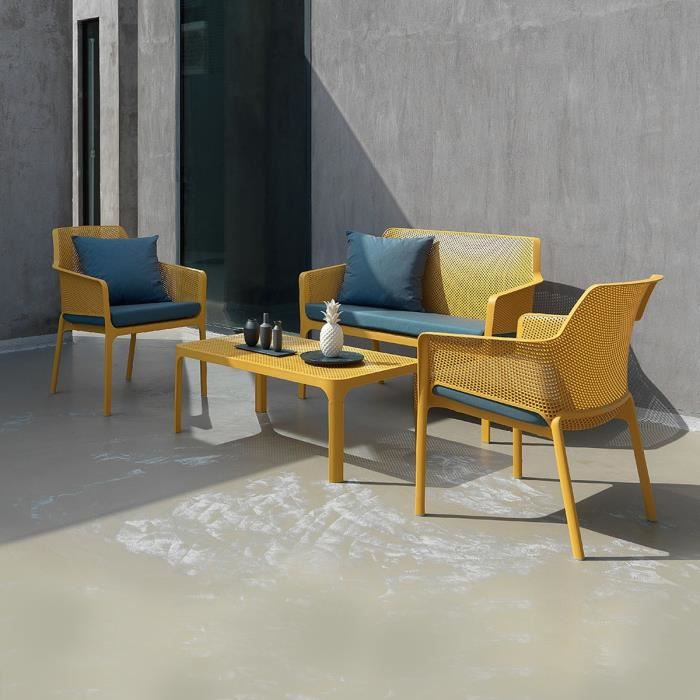 SALON DE JARDIN  Salon de jardin polypropylène design 100x60 Net ja