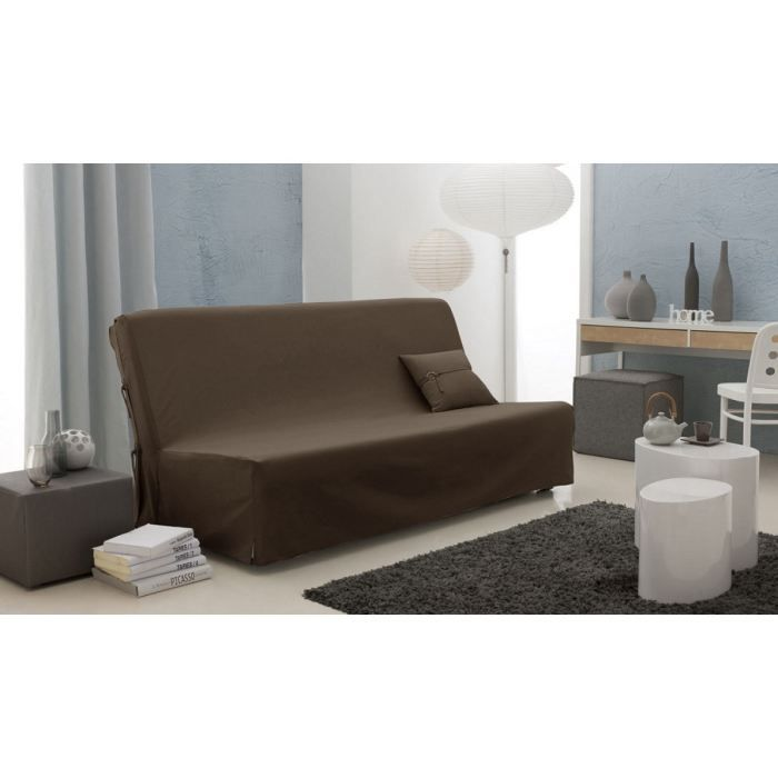 Housse clic clac twill serg couleur chocolat 1 achat vente housse de ca - Housse clic clac chocolat ...