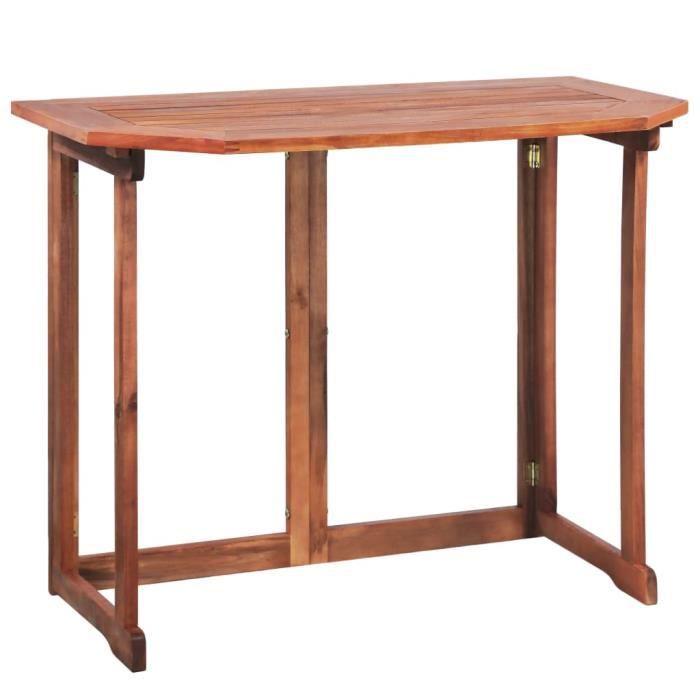 VidaXL Table de balcon Bois d\'acacia massif 90 x 50 x 75 cm ...